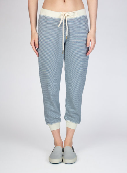 The Great Cropped Sweatpants Salt Water Stripes