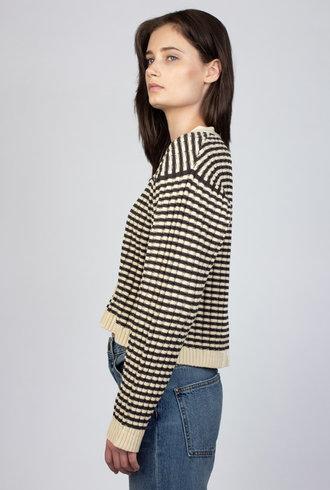 The Great Mini Striped Cardigan