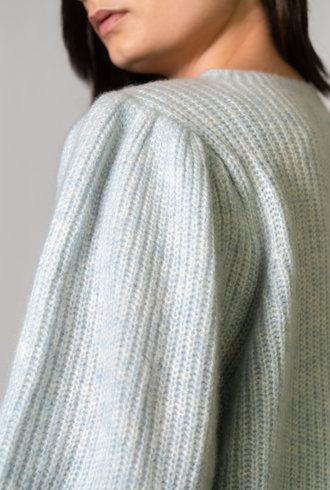 Apiece Apart Arne Puff Sleeve Illusion Blue