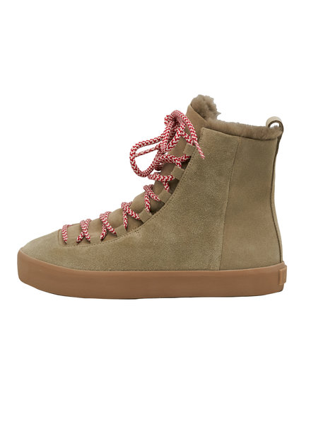 Coclico Sugar Otter Sabbia Boot with Candy-Stripe Lace