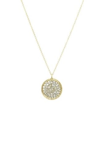 Dana Kellin Fine 14k Round Grey Diamond Necklace