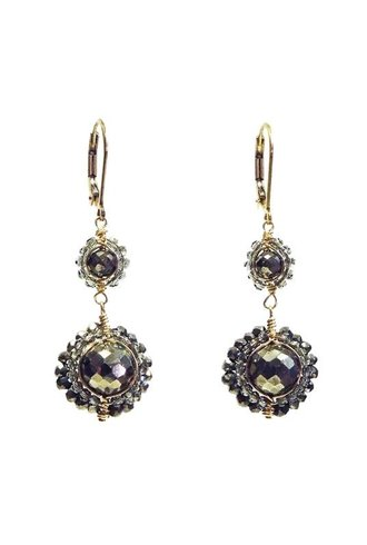 Dana Kellin Fashion Pyrite Earrings