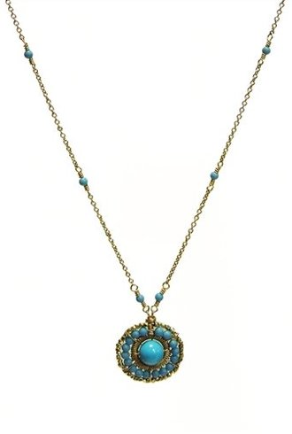Dana Kellin Fashion Round Turquoise Necklace