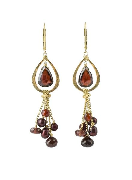 Dana Kellin Fashion Deep Rouge Mix Earrings