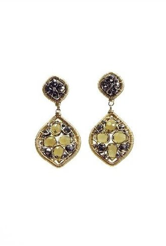 Dana Kellin Fashion Pyrite Drop Earrings
