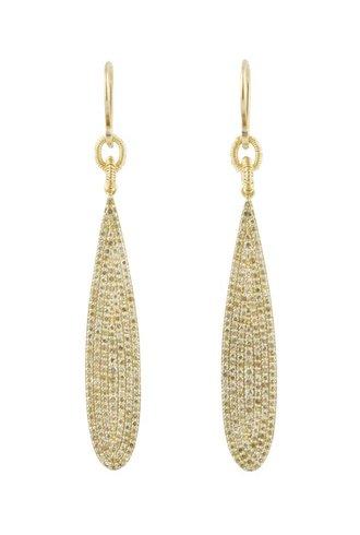 Dana Kellin Fine 14k Pave Diamond Teardrop Earrings