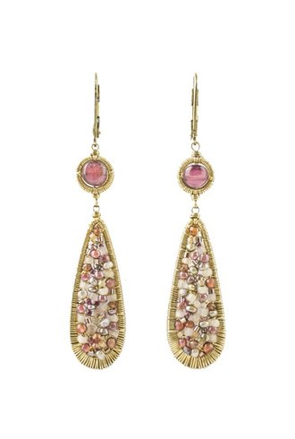 Dana Kellin Fashion Pink Mix and Pearl Earrings