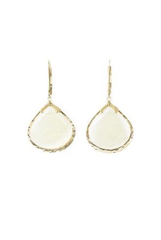 Dana Kellin Fashion White Calcite Earrings