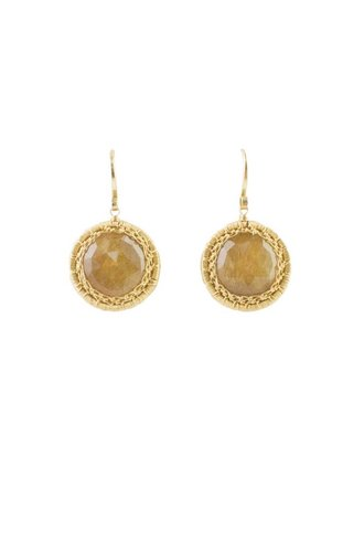 Dana Kellin Fine Circular Sunstone Earrings