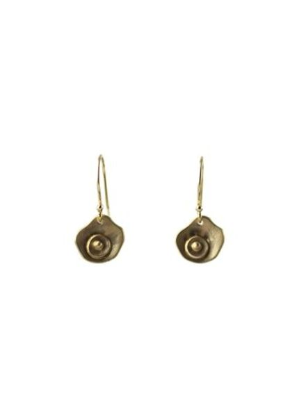 Sarah McGuire Gold Oyster Earrings