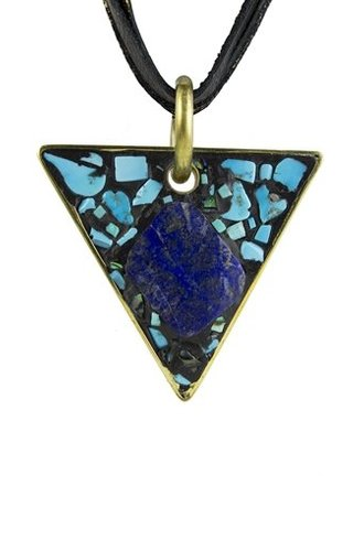 Beth Orduna Design Black Mosaic Triangle Necklace
