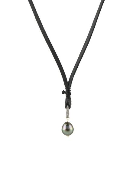 Renee Garvey Tahitian Pearl Diamond Ring Necklace