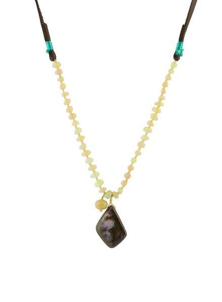 Renee Garvey Ethiopian and Boulder Opal Necklace