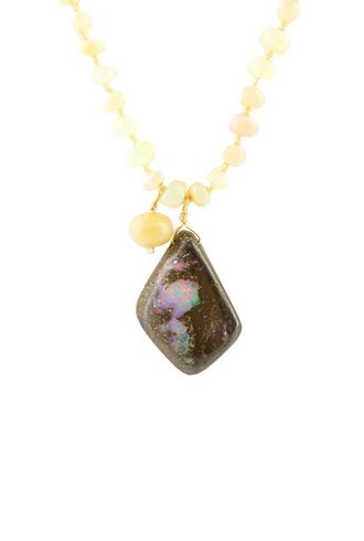 Renee Garvey Ethiopian and Boulder Opal Necklace