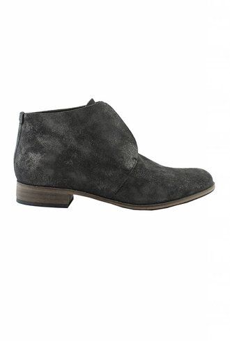 Coclico Tala Raw Edge Bootie Metallic Anthracite