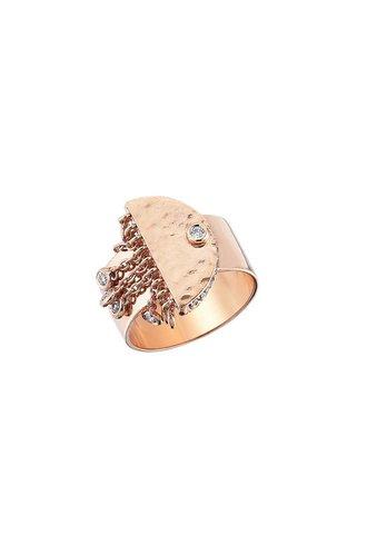 KISMET by Milka Le Soleil Tassels Pinky Ring