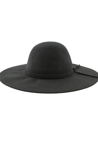 Brooklyn Hat Co. Steph Felt Floppy Hat Black