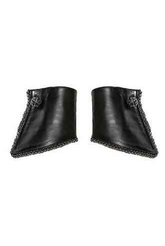 Catherine Osti Jane Beaded Leather Cuffs Black