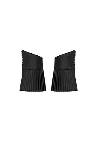 Catherine Osti Veronique Pleated Cuffs Black