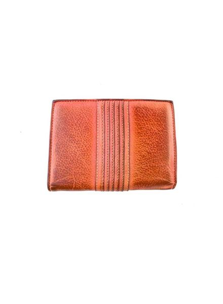 Majo Textured Leather Purse Coral