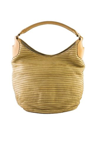 Majo Textured Leather Bag Sand