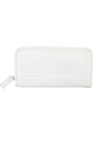 Majo Line Textured Wallet Milk