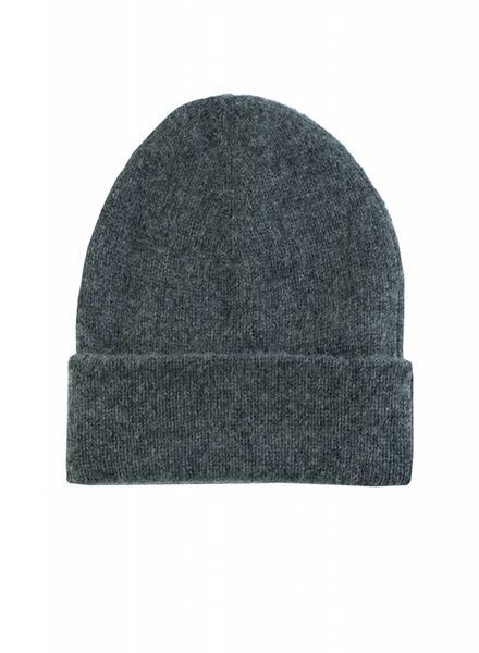 New Scotland Solid Beanie Dark Grey