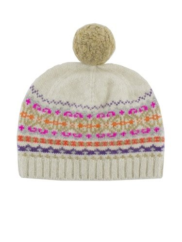 fb7a2e6d9d9 New Scotland - Fairisle Pompom Hat Oatmeal - Women s Clothing ...