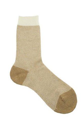 Pantherella Sylvie Stripe Cashmere Socks Camel/Milk