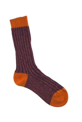 Pantherella Fern Socks Purple & Orange