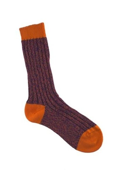 Pantherella Fern Socks Purple & Orange