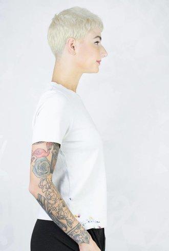 Raquel Allegra Boy Tee Paint Dirty White