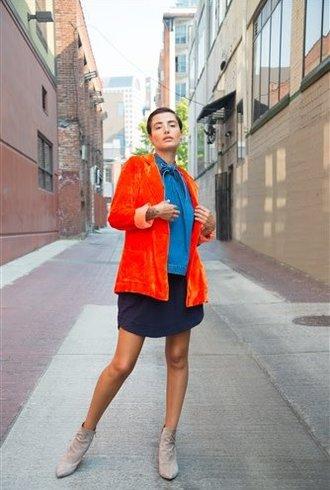 Raquel Allegra Classic Blazer Persimmon