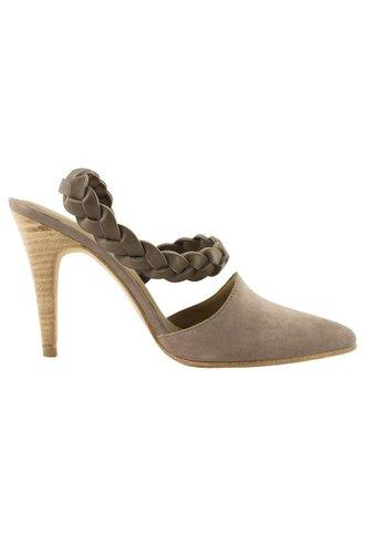 Ulla Johnson Suede D'Orsay Heel Taupe