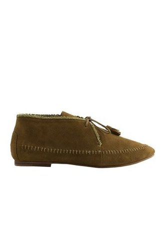 Ulla Johnson Lia Suede Moccasin Tobacco