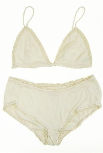 Jalou Bra and Panty Set Off White