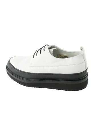 Soft Leather Creeper Bianco