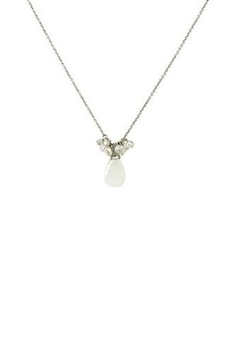 Dana Kellin Fashion Moonstone and Pearl Necklace