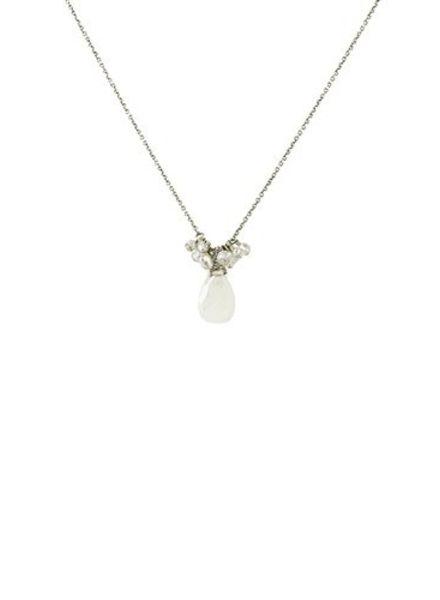 Dana Kellin Fashion Moonstone and Pearl Necklace