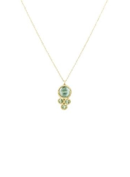 Dana Kellin Fashion Teal and Green Quartz Necklace