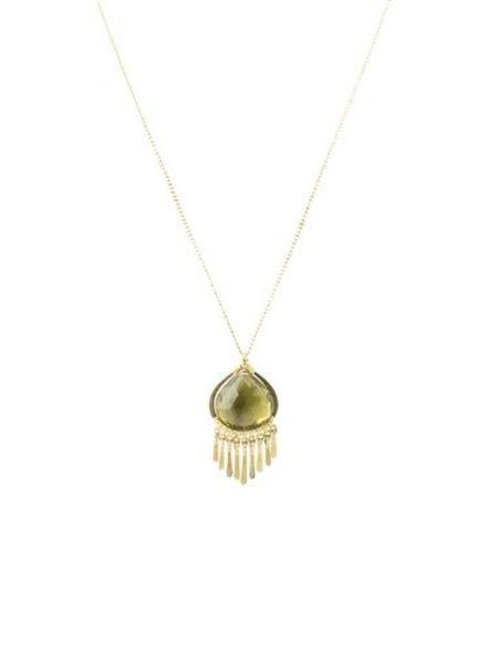 Dana Kellin Fashion Olive Quartz Necklace