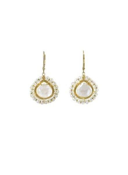 Dana Kellin Fashion Milk Quartz Earrings