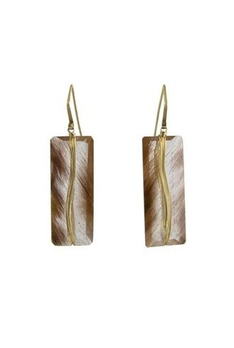 Dana Kellin Fine 14k Rutilated Quartz Earrings