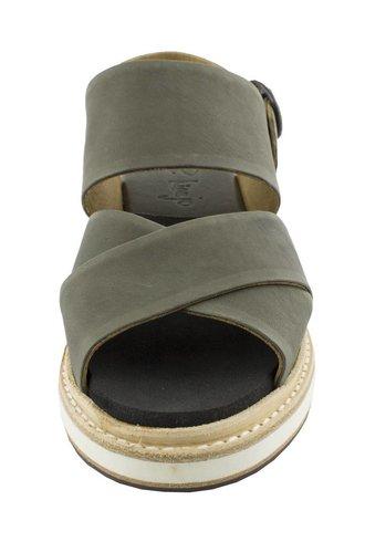 P. Monjo Carlotta Three Strap Sandals Asfalto
