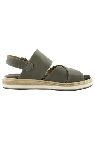 P. Monjo Carlotta Three Strap Sandals Asfalto