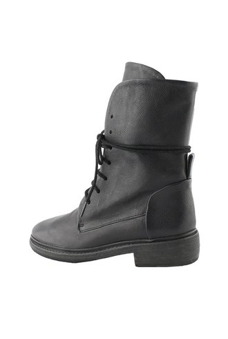 P. Monjo Clos Lace Up Combat Boot Black