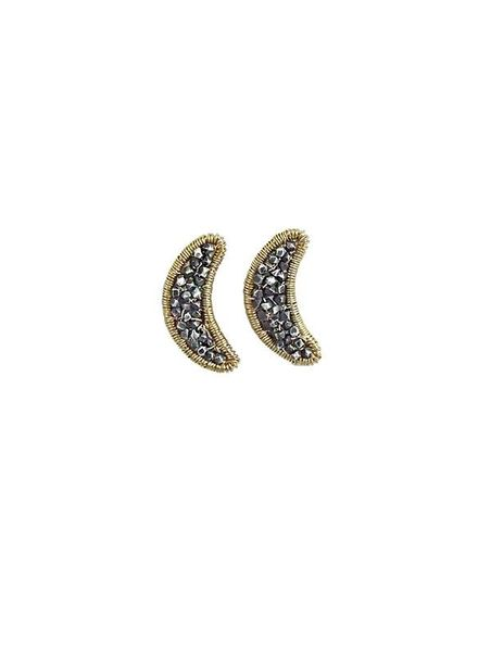 Dana Kellin Fashion Beaded Moon Studs