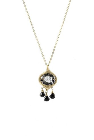 Dana Kellin Fine 14k Black Diamond Chandelier Necklace