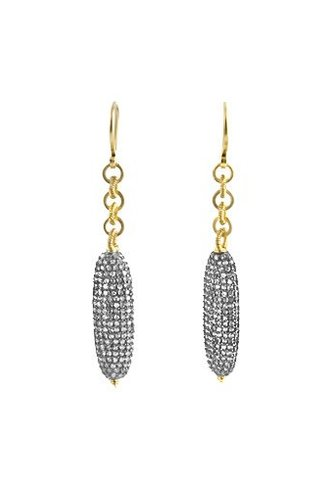 Dana Kellin Fine 14k Pave Diamond Linked Tube Earrings