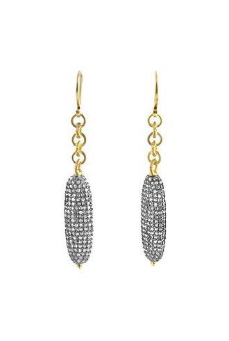 Dana Kellin Fine 14k Pave Diamond Linked Tube Earrings